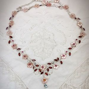 Jewelry - Natural Mother-Of-Peal and Gemstone Necklace